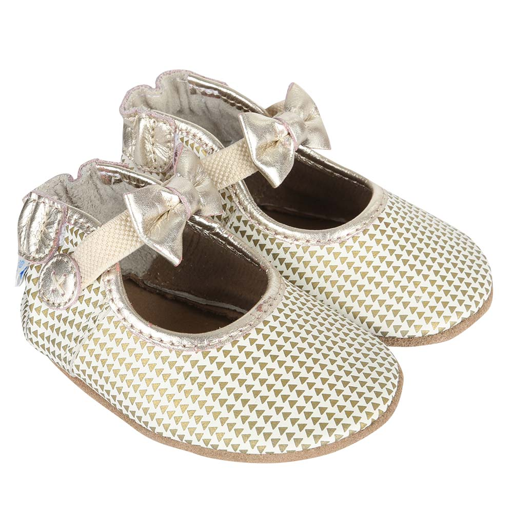 Triangle Print Mary Jane Baby Shoes, Soft Soles, 18 - 24 Months from Robeez Footwear Ltd. Product Image