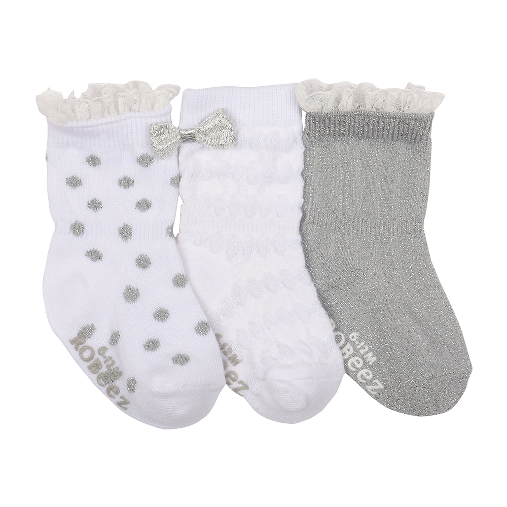 Silver Night Baby Socks, 3-Pack, 0 - 6 Months from Robeez Footwear Ltd. Product Image