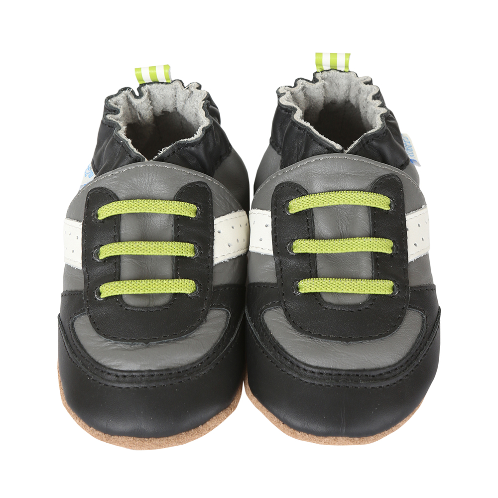 Super Sporty Baby Shoes, Grey 0 - 6 Months from Robeez Footwear Ltd. Product Image