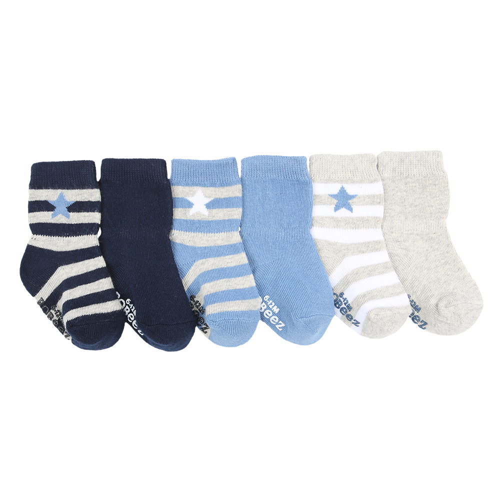 Rugby Star Socks, 6-Pack 12 - 24 Months from Robeez Footwear Ltd. Product Image