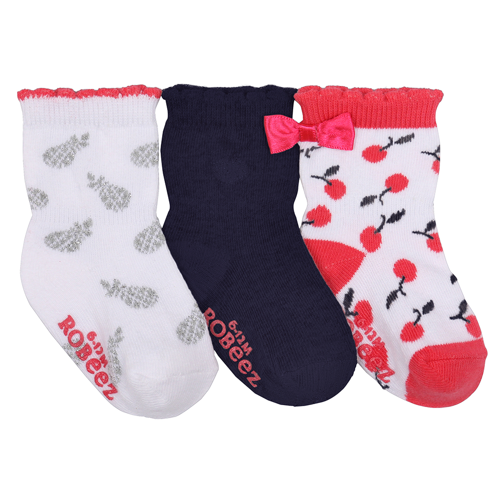 Sweet Cherry Baby Socks, 3-Pack, 6 - 12 Months from Robeez Footwear Ltd. Product Image