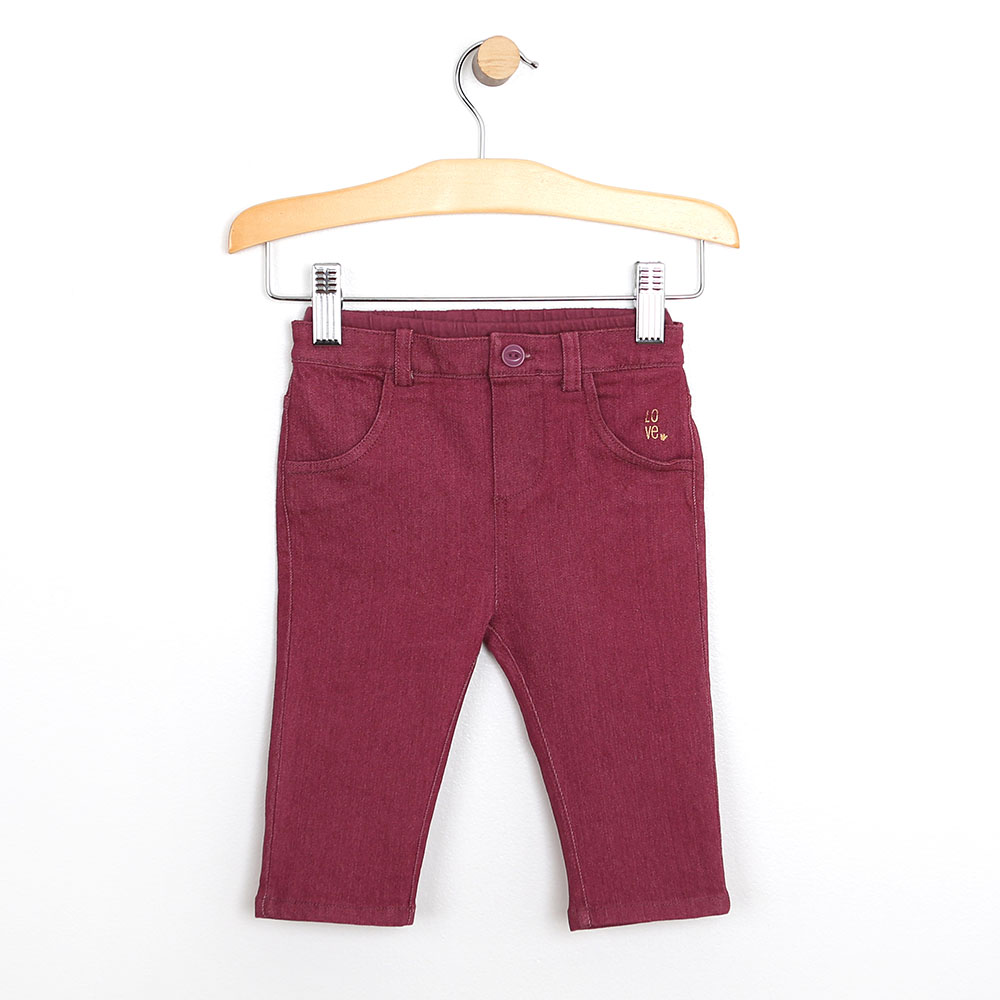 Super Soft Jeans, Maroon, 18 Months from Robeez Footwear Ltd. Product Image