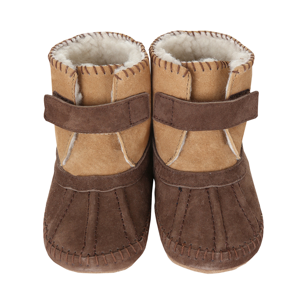 Galway Cozy Baby Boots, Brown 6 - 12 Months from Robeez Footwear Ltd. Product Image